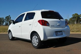 2013 Mitsubishi Mirage LA ES White Continuous Variable Hatchback.