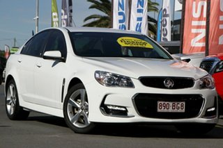 2015 Holden Commodore VF II MY16 SV6 White 6 Speed Sports Automatic Sedan.