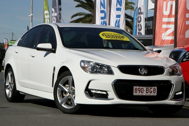 Used Holden Commodore VF II MY16 SV6 Aspley, 2015 Holden Commodore VF II MY16 SV6 White 6 Speed Sports Automatic Sedan