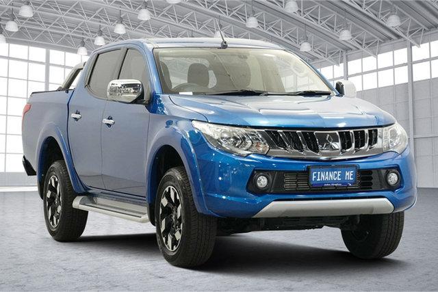 Used Mitsubishi Triton MQ MY18 Exceed Double Cab Victoria Park, 2018 Mitsubishi Triton MQ MY18 Exceed Double Cab Impulse Blue 5 Speed Sports Automatic Utility