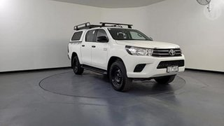 2017 Toyota Hilux GUN126R SR (4x4) White 6 Speed Automatic Dual Cab Chassis