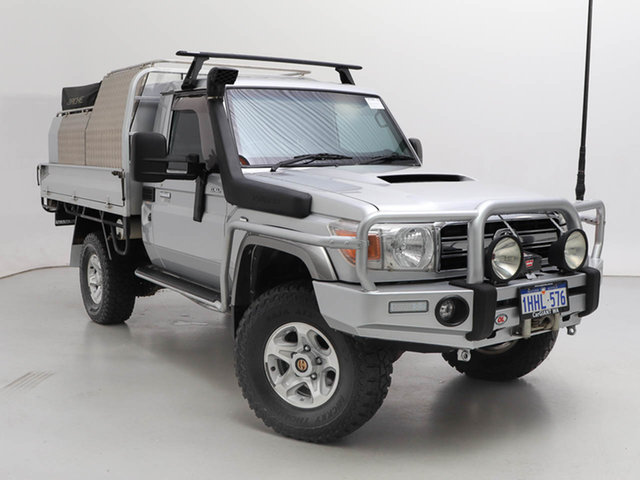 Used Toyota Landcruiser VDJ79R MY12 Update GXL (4x4), 2014 Toyota Landcruiser VDJ79R MY12 Update GXL (4x4) Silver, Chrome 5 Speed Manual Cab Chassis
