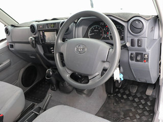 2014 Toyota Landcruiser VDJ79R MY12 Update GXL (4x4) Silver, Chrome 5 Speed Manual Cab Chassis