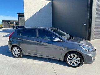 2011 Hyundai Accent RB Active Grey 4 Speed Sports Automatic Hatchback.