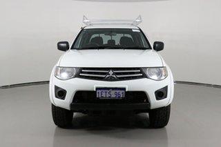 2015 Mitsubishi Triton MN MY15 GLX White 4 Speed Automatic Double Cab Utility.