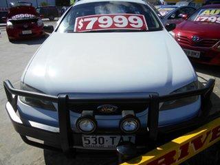 2004 Ford Falcon BA Tradesman Super Cab XL White 4 Speed Automatic Traytop.