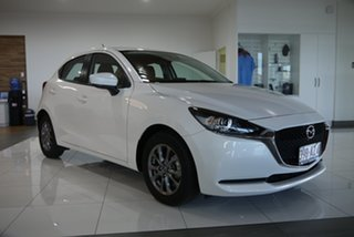 2021 Mazda 2 DJ2HAA G15 SKYACTIV-Drive Pure White 6 Speed Sports Automatic Hatchback.