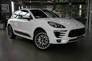 2014 Porsche Macan 95B MY15 S PDK AWD White 7 Speed Sports Automatic Dual Clutch Wagon.