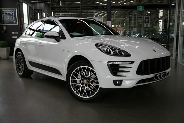 Used Porsche Macan 95B MY15 S PDK AWD North Melbourne, 2014 Porsche Macan 95B MY15 S PDK AWD White 7 Speed Sports Automatic Dual Clutch Wagon