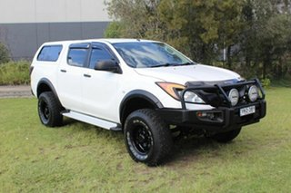 2012 Mazda BT-50 UP0YF1 XT 4x2 Hi-Rider White 6 Speed Sports Automatic Utility.