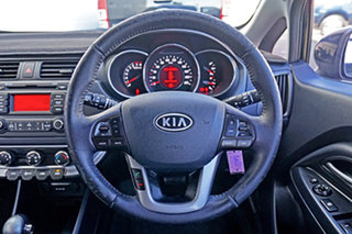2012 Kia Rio UB MY12 SLi Black 6 Speed Sports Automatic Hatchback