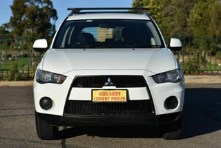 2010 Mitsubishi Outlander ZH MY11 LS 2WD White 6 Speed Constant Variable Wagon.