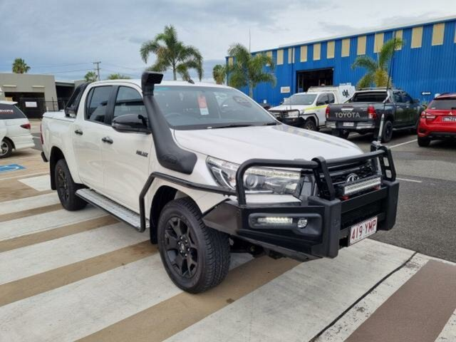 Pre-Owned Toyota Hilux GUN126R Rogue Double Cab Gladstone, 2018 Toyota Hilux GUN126R Rogue Double Cab Crystal Pearl 6 Speed Sports Automatic Utility
