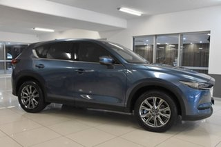2019 Mazda CX-5 KF4W2A Akera SKYACTIV-Drive i-ACTIV AWD Blue 6 Speed Sports Automatic Wagon.
