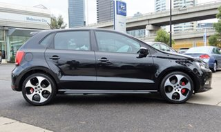 2012 Volkswagen Polo 6R MY12.5 GTI DSG Black 7 Speed Sports Automatic Dual Clutch Hatchback