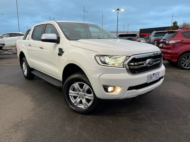Used Ford Ranger PX MkIII 2019.75MY XLT Hi-Rider Essendon Fields, 2019 Ford Ranger PX MkIII 2019.75MY XLT Hi-Rider White 10 Speed Sports Automatic Double Cab Pick Up