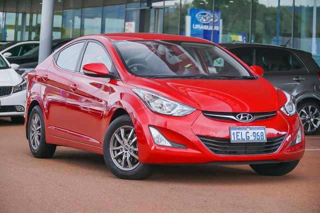 Used Hyundai Elantra MD3 Active Gosnells, 2014 Hyundai Elantra MD3 Active Red 6 Speed Sports Automatic Sedan