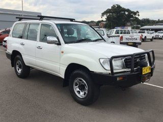 2001 Toyota Landcruiser HZJ105R RV White 5 Speed Manual Wagon.