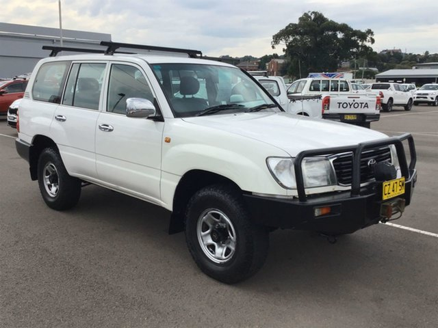 Used Toyota Landcruiser HZJ105R RV Cardiff, 2001 Toyota Landcruiser HZJ105R RV White 5 Speed Manual Wagon