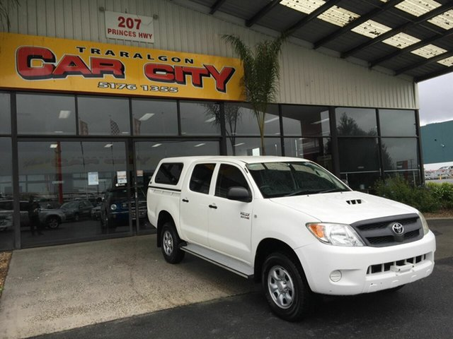 Used Toyota Hilux KUN26R 06 Upgrade SR (4x4) Traralgon, 2007 Toyota Hilux KUN26R 06 Upgrade SR (4x4) White 4 Speed Automatic Dual Cab Pick-up