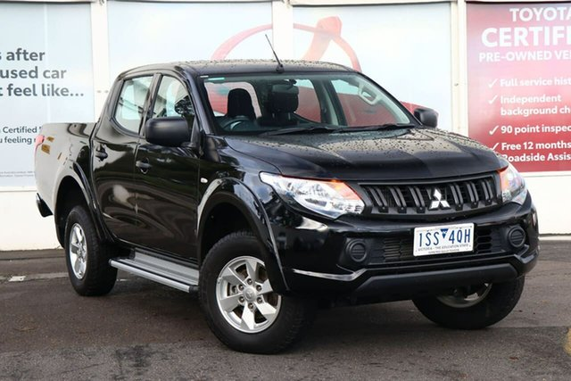 Pre-Owned Mitsubishi Triton MQ MY18 GLX+ Club Cab Ferntree Gully, 2018 Mitsubishi Triton MQ MY18 GLX+ Club Cab Black 5 Speed Sports Automatic Utility