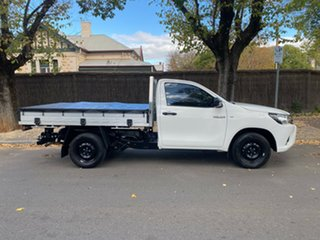 2018 Toyota Hilux TGN121R Workmate Double Cab 4x2 White 5 Speed Manual Utility