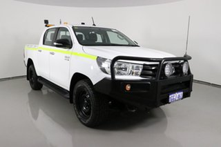2017 Toyota Hilux GUN126R SR (4x4) White 6 Speed Manual Dual Cab Utility.