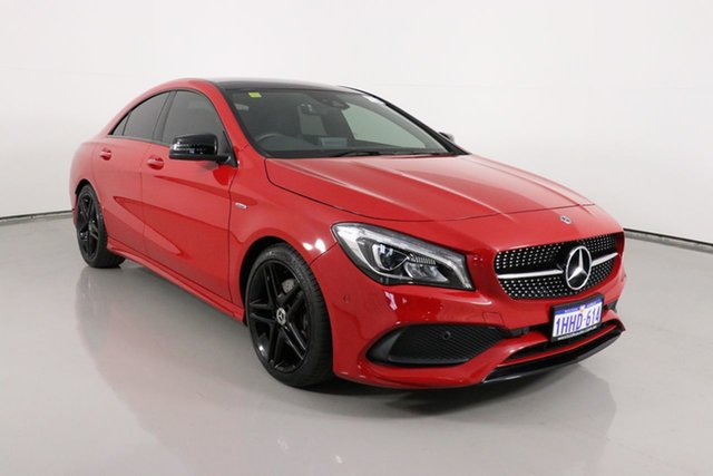 Used Mercedes-Benz CLA250 117 MY17 4Matic Bentley, 2017 Mercedes-Benz CLA250 117 MY17 4Matic Red 7 Speed Auto Dual Clutch Coupe