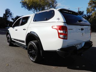2018 Mitsubishi Triton MQ MY18 Blackline Double Cab White 5 Speed Sports Automatic Utility