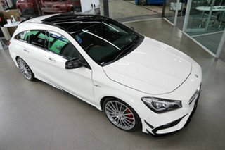 2017 Mercedes-Benz CLA-Class X117 807MY CLA45 AMG Shooting Brake SPEEDSHIFT DCT 4MATIC White 7 Speed