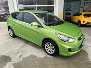 2014 Hyundai Accent RB2 MY15 Active Green 4 Speed Sports Automatic Sedan.