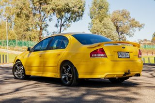 2005 Ford Falcon BF XR6 Yellow 6 Speed Auto Seq Sportshift Sedan.
