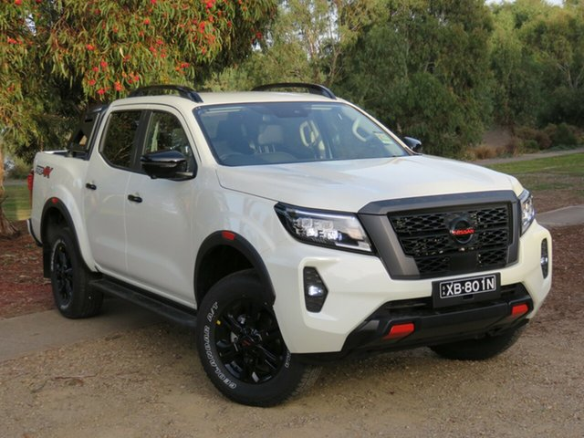 Demo Nissan Navara D23 MY21 Pro-4X Morphett Vale, 2021 Nissan Navara D23 MY21 Pro-4X White Diamond 7 Speed Sports Automatic Utility