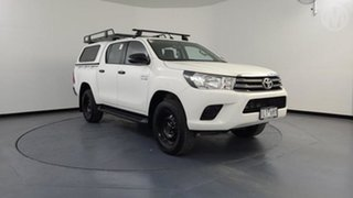 2017 Toyota Hilux GUN126R SR (4x4) White 6 Speed Automatic Dual Cab Chassis.