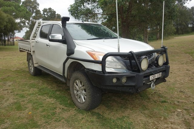 Used Mazda BT-50 UP0YF1 XTR East Maitland, 2014 Mazda BT-50 UP0YF1 XTR White 6 Speed Sports Automatic Utility