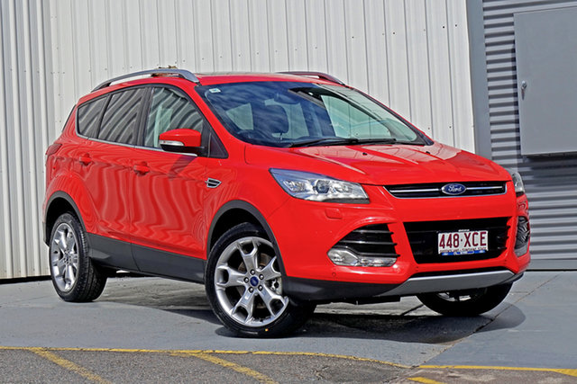 Used Ford Kuga TF MY16.5 Titanium AWD Springwood, 2016 Ford Kuga TF MY16.5 Titanium AWD Red 6 Speed Sports Automatic Wagon