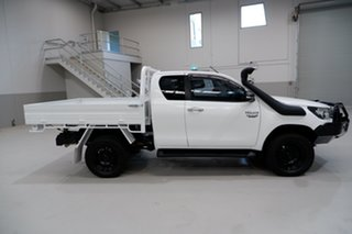 2016 Toyota Hilux GUN126R SR Extra Cab White 6 Speed Manual Utility