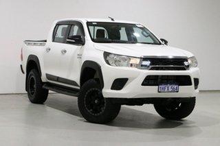 2017 Toyota Hilux GUN126R SR (4x4) White 6 Speed Automatic Dual Cab Utility.