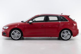 2018 Audi S3 8V MY18 Sportback S Tronic Quattro Red 7 Speed Sports Automatic Dual Clutch Hatchback