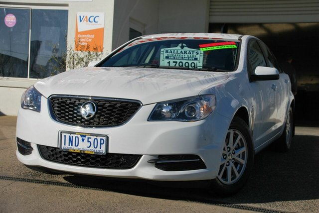 Used Holden Commodore VF II Evoke Wendouree, 2016 Holden Commodore VF II Evoke White 6 Speed Automatic Sedan