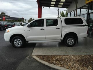 2007 Toyota Hilux KUN26R 06 Upgrade SR (4x4) White 4 Speed Automatic Dual Cab Pick-up
