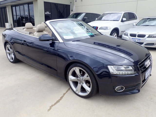 Used Audi A5 8T MY12 3.0 TDI Quattro Wangara, 2011 Audi A5 8T MY12 3.0 TDI Quattro Deep Blue Metallic 7 Speed Auto Direct Shift Cabriolet