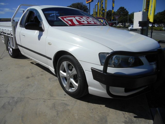Used Ford Falcon BA Tradesman Super Cab XL Springwood, 2004 Ford Falcon BA Tradesman Super Cab XL White 4 Speed Automatic Traytop