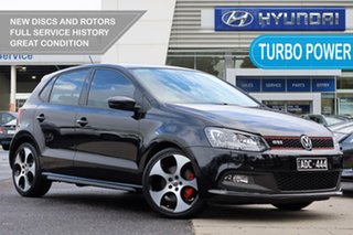 2012 Volkswagen Polo 6R MY12.5 GTI DSG Black 7 Speed Sports Automatic Dual Clutch Hatchback.