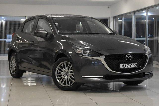 Demo Mazda 2 DJ2HAA G15 SKYACTIV-Drive Evolve Waitara, 2021 Mazda 2 DJ2HAA G15 SKYACTIV-Drive Evolve Grey 6 Speed Sports Automatic Hatchback
