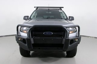 2016 Ford Ranger PX MkII XL 3.2 (4x4) Silver 6 Speed Manual Crew Cab Utility.