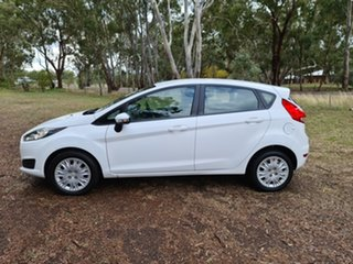 2014 Ford Fiesta WZ Ambiente Arctic White 5 Speed Manual Hatchback.