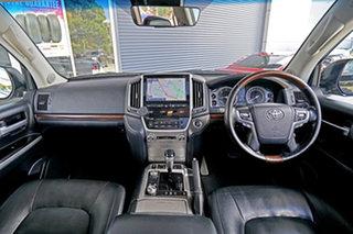 2018 Toyota Landcruiser VDJ200R Sahara Black 6 Speed Sports Automatic Wagon