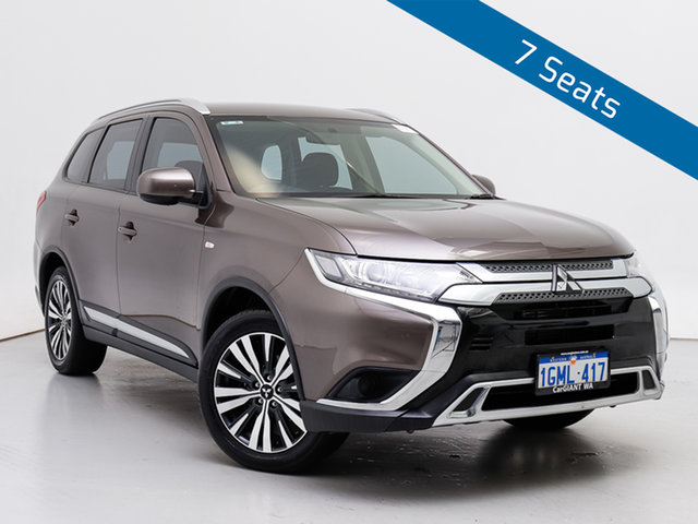 Used Mitsubishi Outlander ZL MY19 ES 7 Seat (AWD), 2018 Mitsubishi Outlander ZL MY19 ES 7 Seat (AWD) Ironbark Continuous Variable Wagon