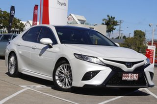 2018 Toyota Camry GSV70R SL Frosted White 8 Speed Sports Automatic Sedan.